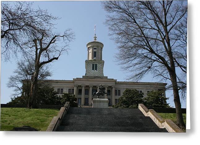 Capital Building In Nashville Tennessee Greeting Cards - Nashville State Capital Building Greeting Card by Betty-Anne McDonald