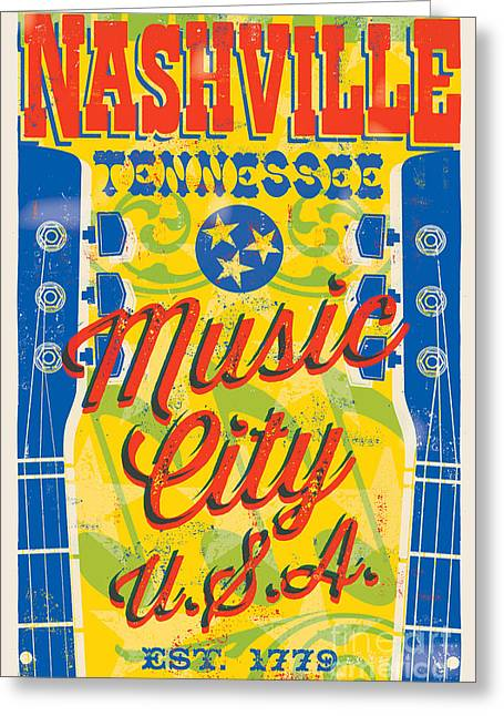 Nashville Tennessee Poster Greeting Card by Jim Zahniser
