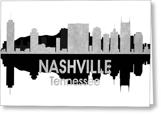 Nashville Tn 4 Squared Greeting Card by Angelina Vick