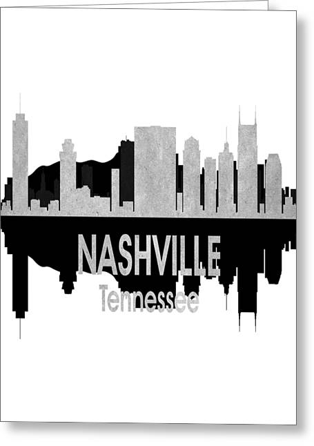 Nashville Tn 4 Vertial Greeting Card by Angelina Vick