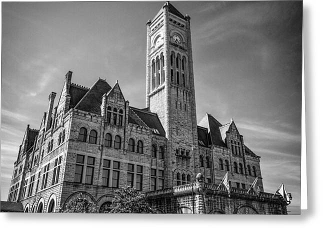 Nashville Tennessee Greeting Cards - Nashville Union Station Greeting Card by Mike Burgquist