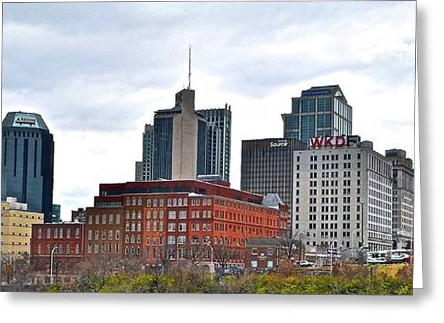Nashville Wide Angle View Greeting Card by Frozen in Time Fine Art Photography