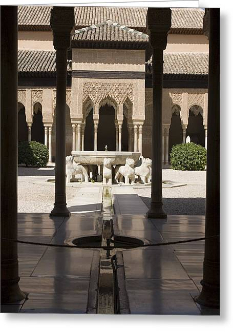 Rill Greeting Cards - Nasrid Palaces Alhambra Granada Spain Europe Greeting Card by Mal Bray
