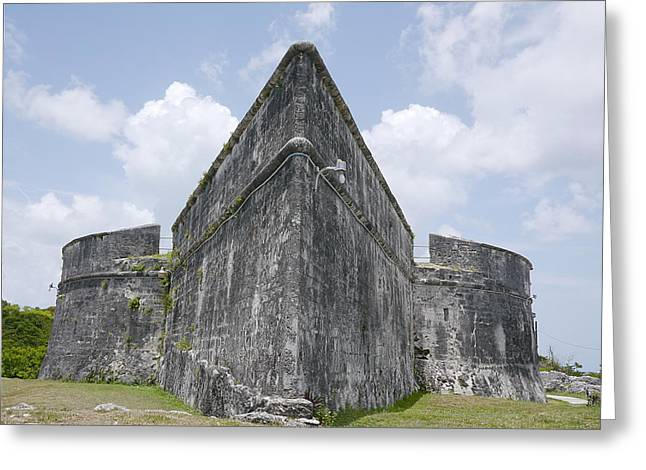 Slavery Ship Greeting Cards - Nassau - Fort Fincastle Greeting Card by Richard Reeve