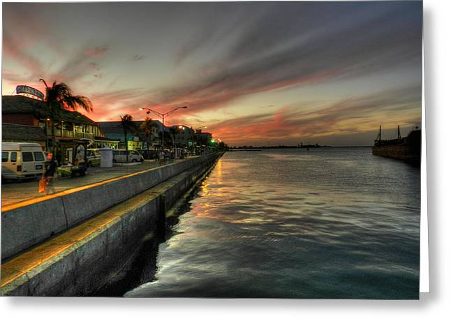 Caribbean Port Greeting Cards - Nassau HDR 001 Greeting Card by Lance Vaughn