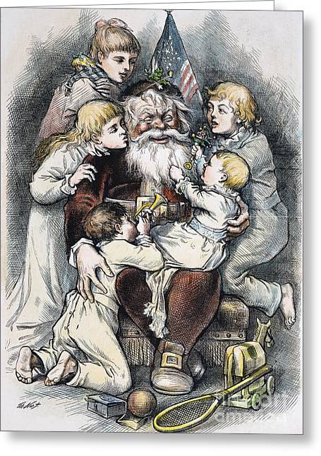 Nicholas Greeting Cards - Nast: Christmas, 1879 Greeting Card by Granger