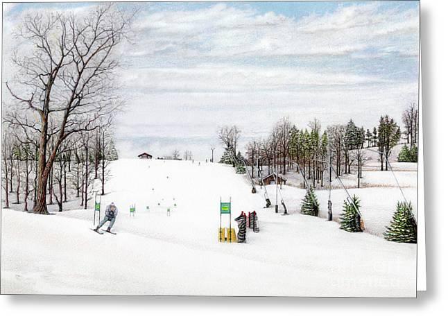 Nastar At Seven Springs Mountain Resort Greeting Card by Albert Puskaric