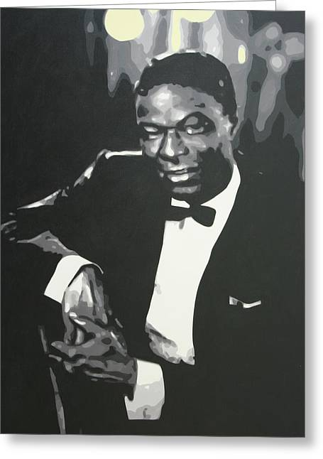 Cole Greeting Cards - Nat King Cole 2013 Greeting Card by Luis Ludzska