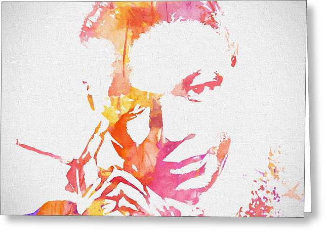 Nat King Cole Watercolor Greeting Card by Dan Sproul