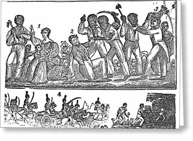 Nat Turner Rebellion, 1831 Greeting Card by Granger