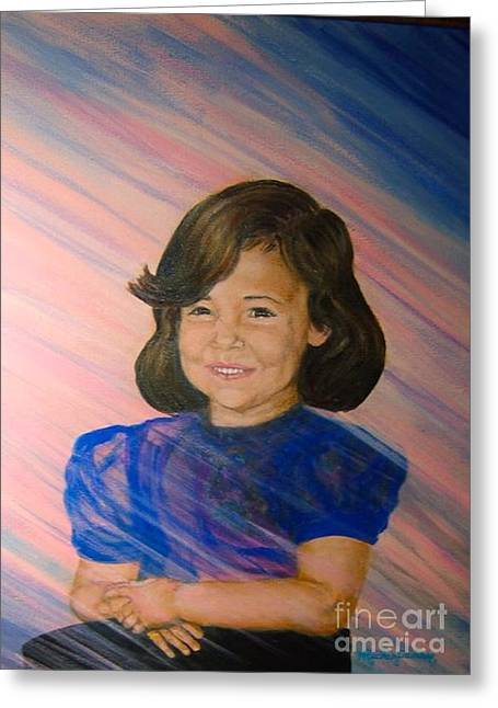 Nancy Rucker Greeting Cards - Natalie -  body and spirit Greeting Card by Nancy Rucker