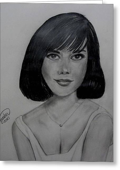 Starlet Drawings Greeting Cards - Natalie Greeting Card by Kimber  Butler