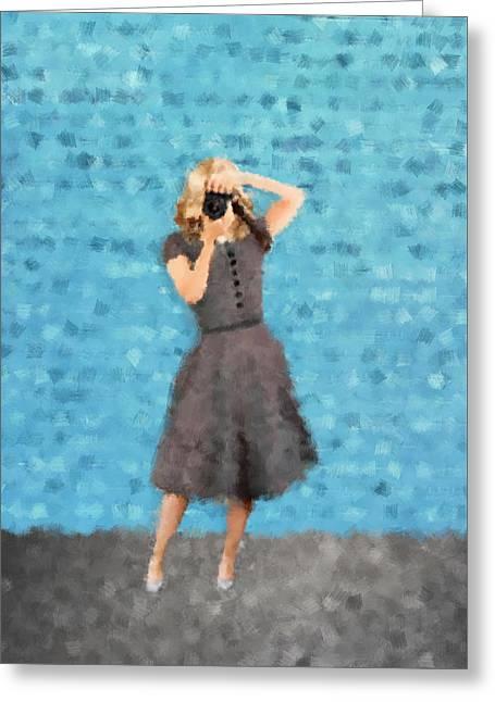 Natalie Greeting Card by Nancy Levan