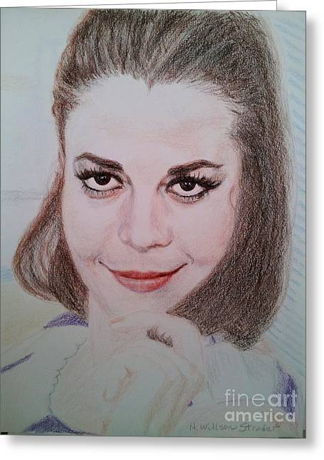 Starlet Drawings Greeting Cards - Natalie, Relaxing Greeting Card by N Willson-Strader