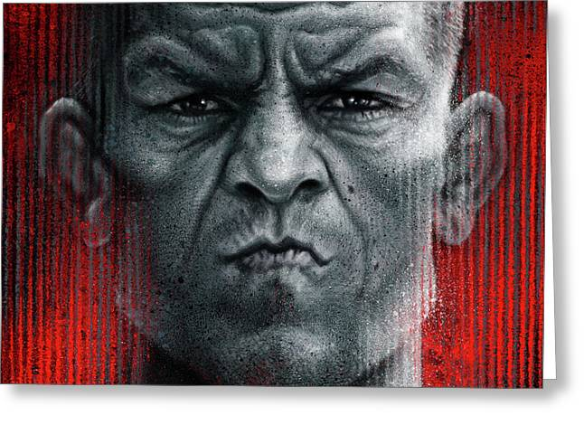 Nate Diaz Greeting Card by Andre Koekemoer