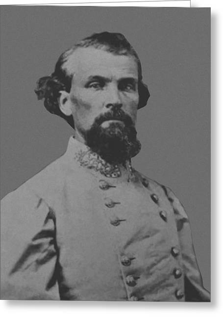 Civil War History Greeting Cards - Nathan Bedford Forrest Greeting Card by War Is Hell Store