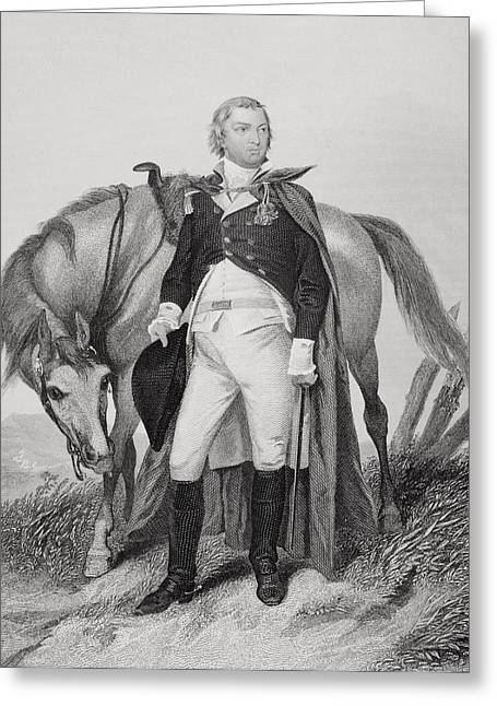 Fame Drawings Greeting Cards - Nathanael Greene 1742-1786. American Greeting Card by Ken Welsh