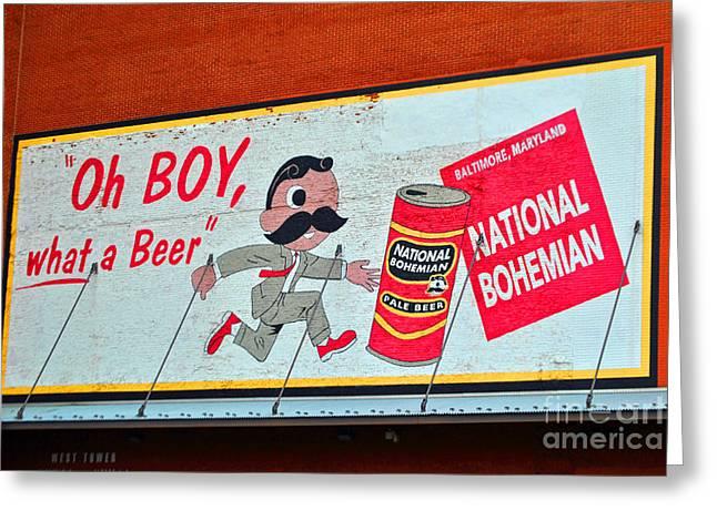 National Bohemian Beer Greeting Cards - National Bohemian Greeting Card by Jost Houk