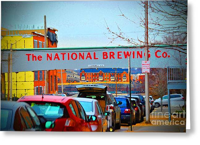 National Bohemian Beer Greeting Cards - National Brewing Company Greeting Card by Jost Houk