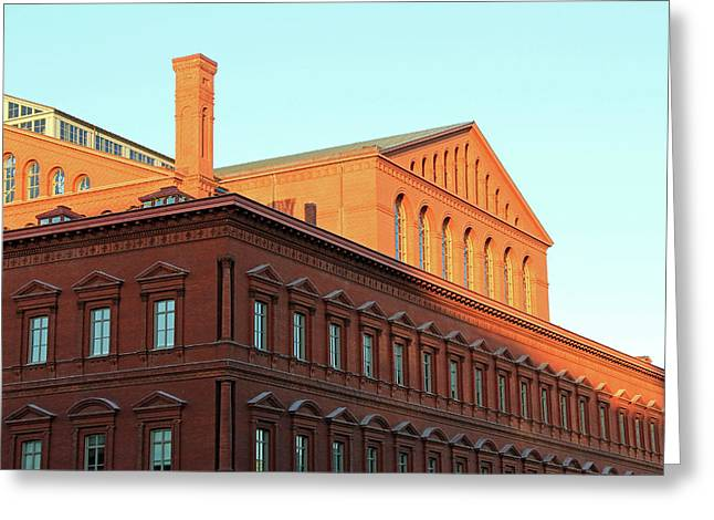 The National Building Museum In Washington Greeting Card by Cora Wandel