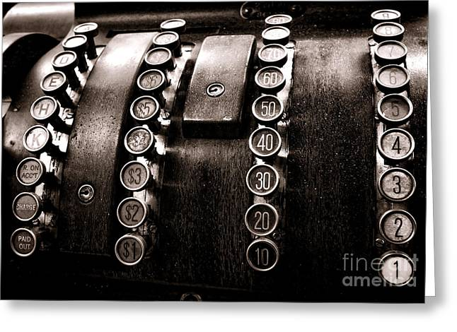 National Greeting Cards - National Cash Register Greeting Card by Olivier Le Queinec