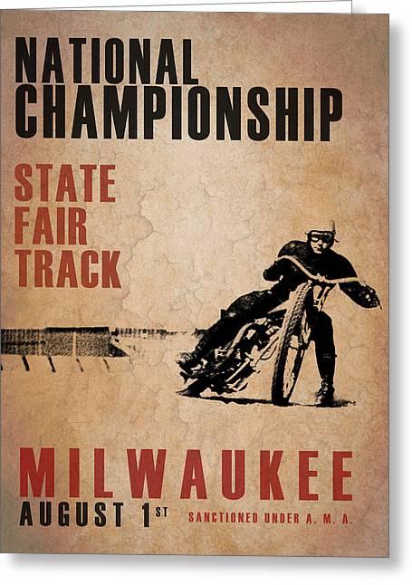 National Championship Milwaukee Greeting Card by Mark Rogan