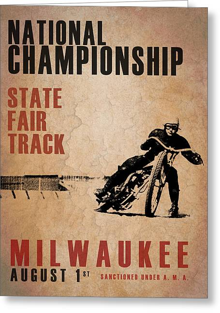 Transport Greeting Cards - National Championship Milwaukee Greeting Card by Mark Rogan
