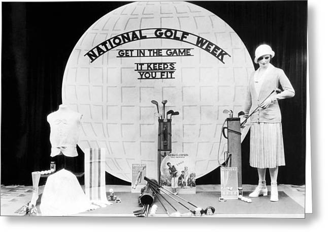 Display Dummy Greeting Cards - National Golf Week Display Greeting Card by Underwood Archives