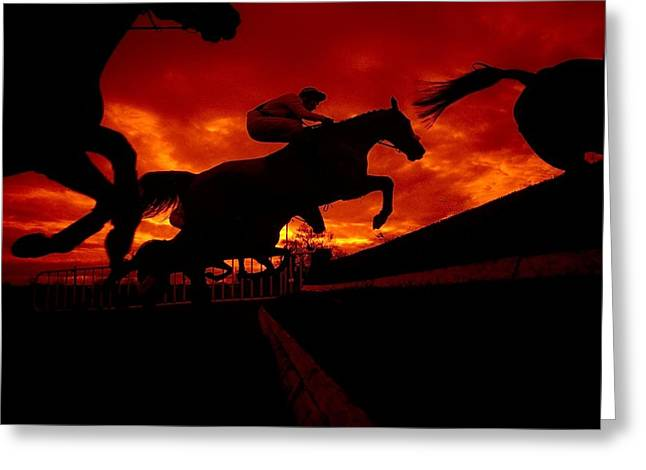 Three Speed Greeting Cards - National Hunt, Ireland Greeting Card by The Irish Image Collection