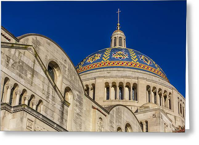 Byzantine Greeting Cards - National Shrine Dome I Greeting Card by Susan Candelario