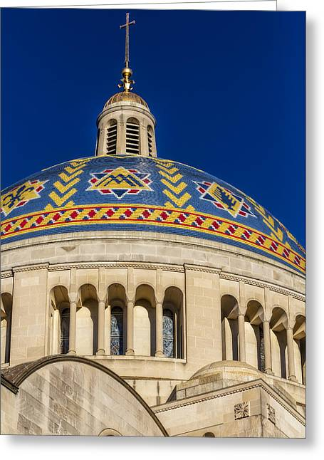 Byzantine Greeting Cards - National Shrine Dome Greeting Card by Susan Candelario