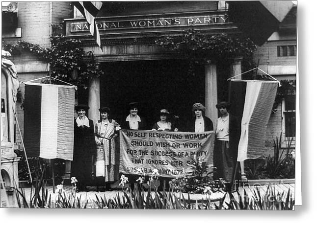 Women Suffrage Greeting Cards - National Womens Party Greeting Card by Granger