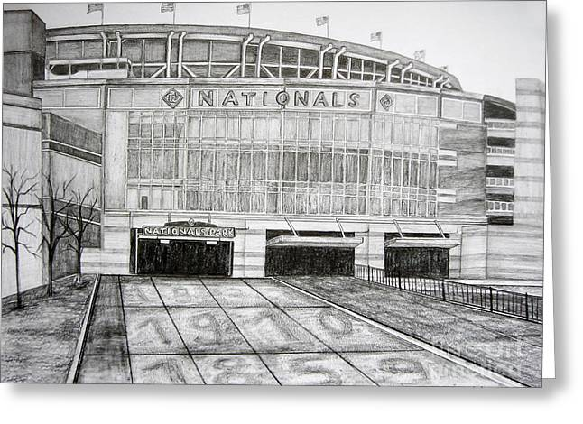 Nationals Park Greeting Card by Juliana Dube