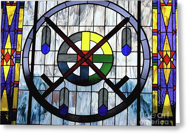 Oglala Greeting Cards - Nations Hoop Greeting Card by Chris  Brewington Photography LLC