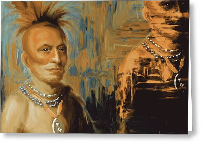 Native American 273 2 Greeting Card by Mawra Tahreem