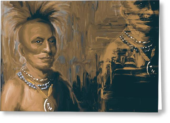 Native American 273 4 Greeting Card by Mawra Tahreem