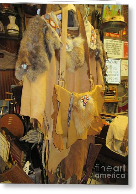 Garment Mixed Media Greeting Cards - Native American Garments Greeting Card by Frederick Holiday