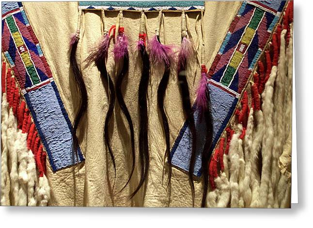 Native American Great Plains Indian Clothing Artwork 06 Greeting Card by Thomas Woolworth