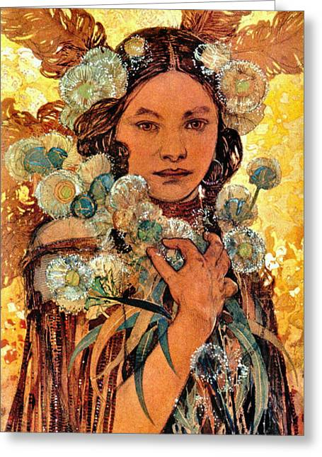 Native American Woman 1905 Greeting Card by Padre Art
