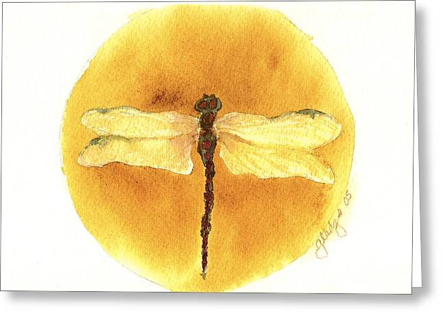 Native Dragonfly Greeting Card by Gladys Folkers