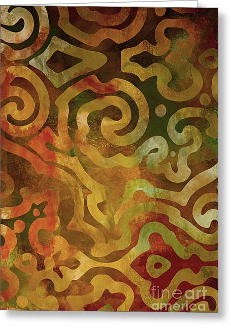 Earth Tone Art Greeting Cards - Native Elements Earth Tones Greeting Card by Mindy Sommers