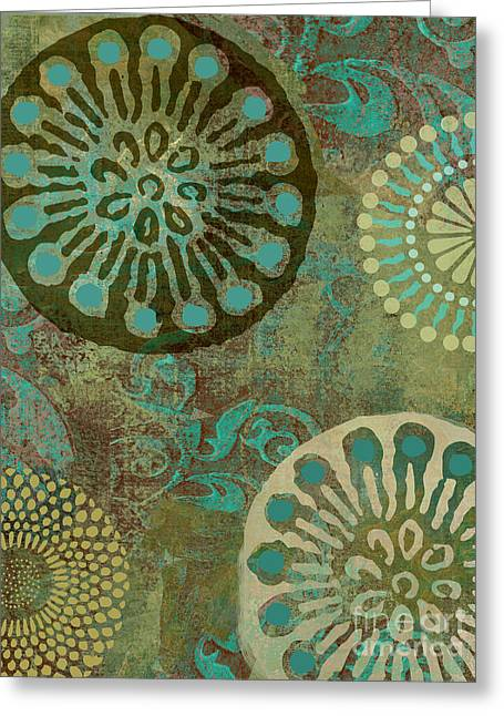 Patterns Paintings Greeting Cards - Native Elements Greeting Card by Mindy Sommers