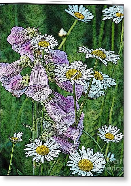 Native Flowers Greeting Card by Diane E Berry