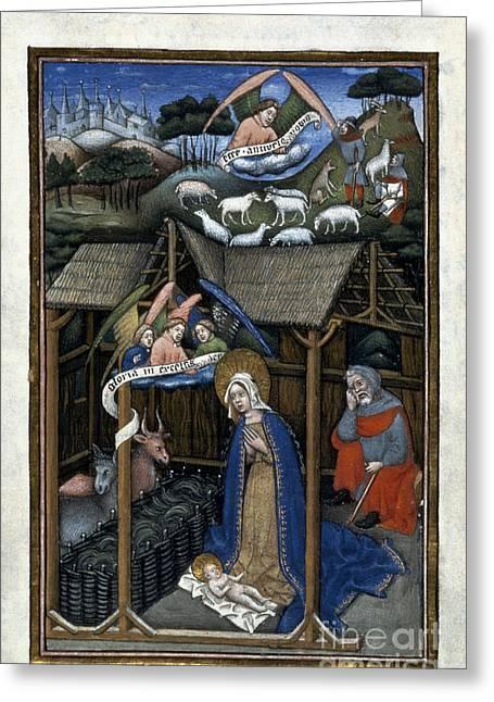 Saint Joseph Greeting Cards - Nativity Greeting Card by Granger