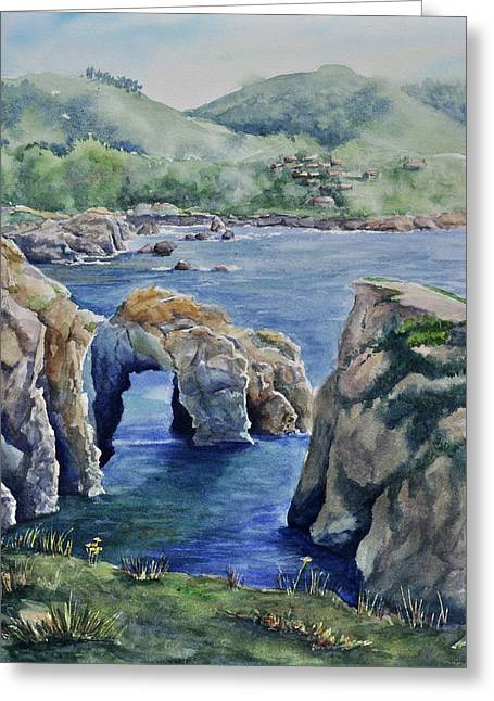 Point Lobos Greeting Cards - Natural Arch - Carmel Greeting Card by Sandy Fisher
