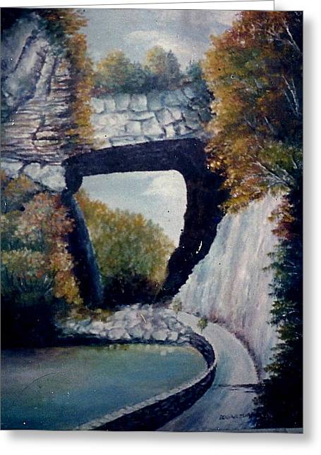 Anne-elizabeth Whiteway Greeting Cards - Natural Bridge Greeting Card by Anne-Elizabeth Whiteway
