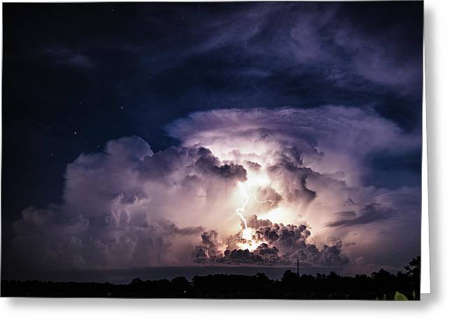 Natural Flash Greeting Card by Jeremy Clinard