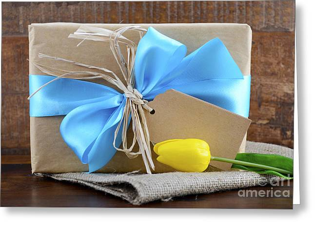 Christmas Greeting Greeting Cards - Natural Kraft Paper Gift  Greeting Card by Milleflore Images