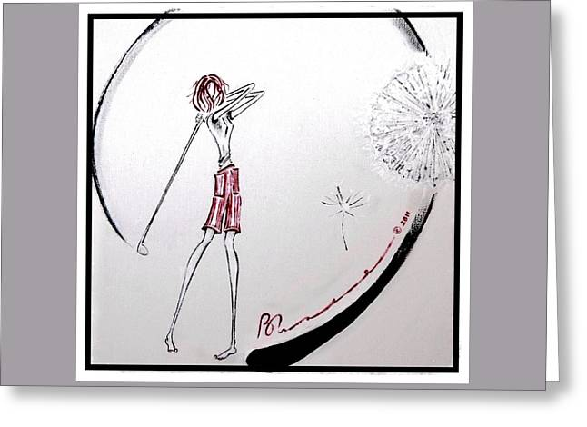 Surprise Greeting Cards - Natural Swing Greeting Card by Barbara Chase