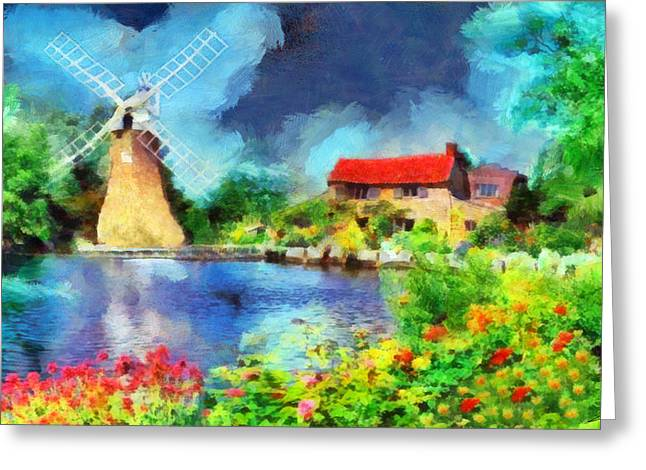 Nederland Paintings Greeting Cards - Nature 2 Greeting Card by George Rossidis